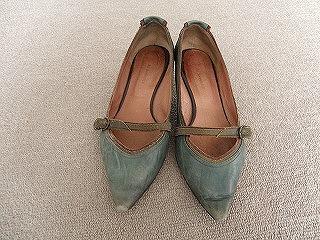 革靴の色はげ・汚れbefore